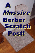 "3BC Extra wide, 30"" berber carpet scratching post - Product Image"