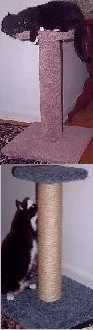 Pedestal-style scratching posts