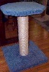 MS8- Large top sisal rope pedestal