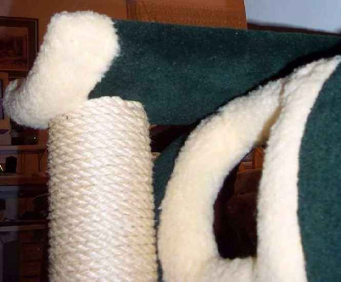 Alll seams, fabrics, carpet  ends, rope ends are professionally secured and trimmed.