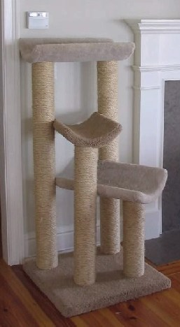 The MLB - 3 level  sisal rope tree /activity center