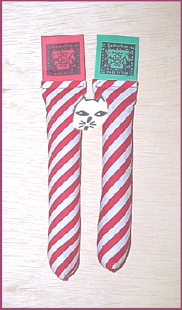 Two Catnip Candy Cane Sticks