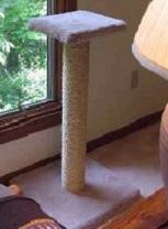 Generous pedestal-style perches!