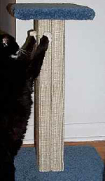 "Sisal Weave Pedestal-Style Cat Scratching Post 24"" - Product Image"
